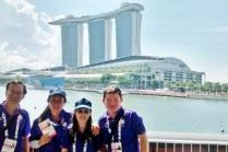SISO volunteers with the magnificent Marina Bay